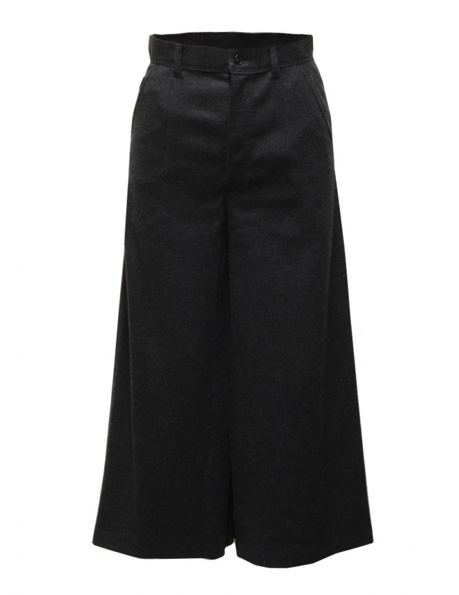 Zucca wide grey cropped wool trousers ZU09JF115-25 D-GRAY womens trousers online shopping