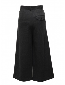 Zucca wide grey cropped wool trousers price