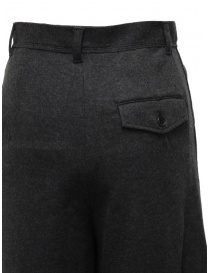 Zucca wide grey cropped wool trousers