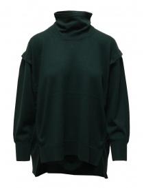 Zucca maglia dolcevita in lana verde scuro online