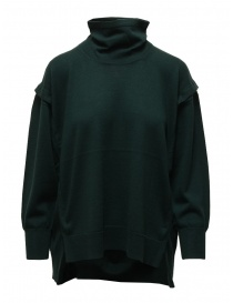 Zucca turtleneck sweater in dark green wool ZU09KN073-10 GREEN order online