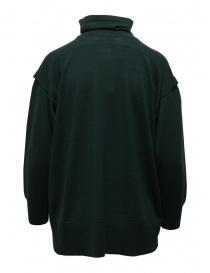 Zucca maglia dolcevita in lana verde scuro