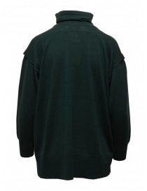 Zucca turtleneck sweater in dark green wool