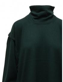 Zucca turtleneck sweater in dark green wool price