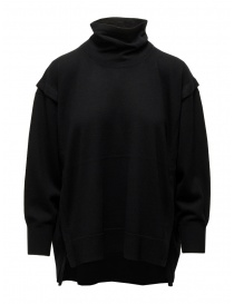 Zucca black turtleneck sweater in thin wool ZU09KN073-26 BLACK order online