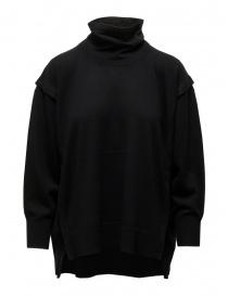 Zucca maglia dolcevita nero in lana sottile online