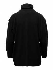 Zucca black turtleneck sweater in thin wool