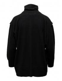 Zucca maglia dolcevita nero in lana sottile