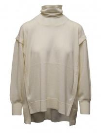Zucca maglia dolcevita bianco in lana sottile online