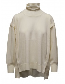 Zucca white turtleneck sweater in thin wool ZU09KN073-02 OFF WHITE order online