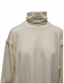 Zucca white turtleneck sweater in thin wool