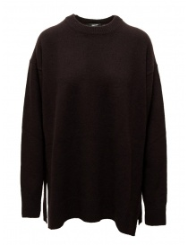 Zucca dark brown oversized sweater with side slits CZ09KN549-05 BROWN order online