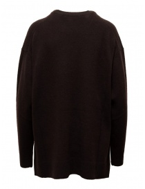 Zucca dark brown oversized sweater with side slits