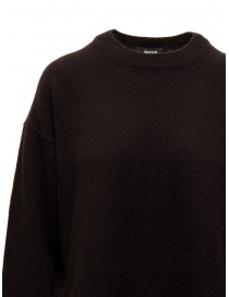 Zucca dark brown oversized sweater with side slits price