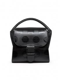 Zucca borsa in pelle riciclata nera a pois online