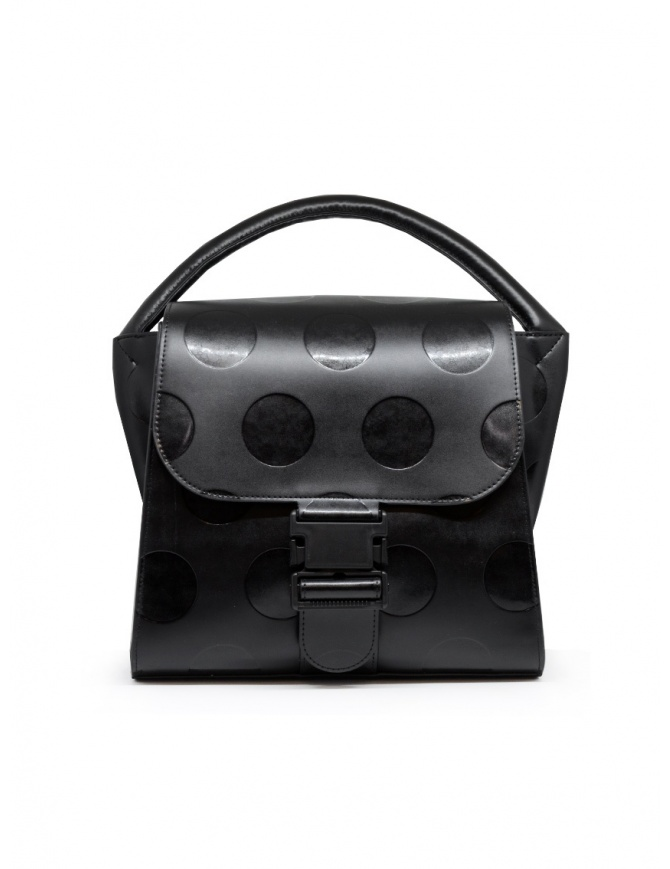 Zucca black recycled leather with polka dots ZU09AG121-26 BLACK bags online shopping