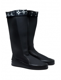 Womens shoes online: Aqua Alta X Napapijri women's black high rainboots