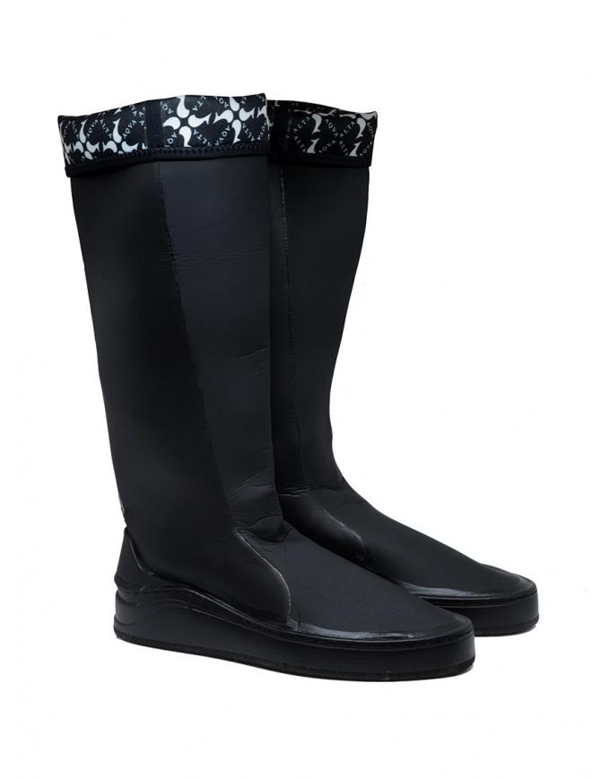 Aqua Alta X Napapijri women's black high rainboots GIUDECCA NA4EC7/041 BLACK womens shoes online shopping