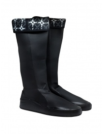 Mens shoes online: Aqua Alta X Napapijri black high rainboots