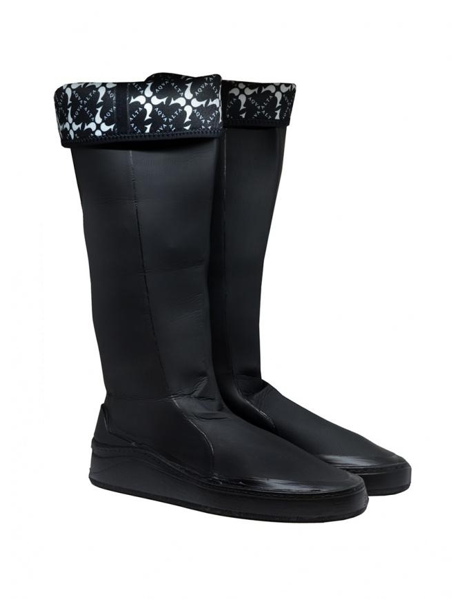 Aqua Alta X Napapijri black high rainboots RIALTO NA4EC6/041 BLACK mens shoes online shopping