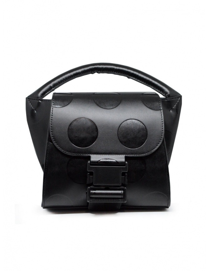 Zucca polka dot mini bag in black eco-leather ZU09AG120-26 BLACK bags online shopping