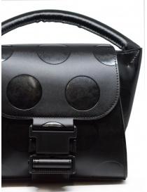 Zucca mini borsa nera a pois in ecopelle