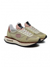 BePositive Cyber ​​Run beige and pink sneakers online