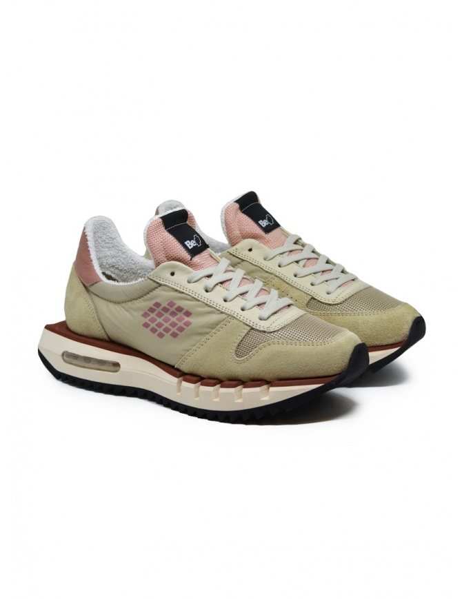BePositive Cyber Run beige and pink sneakers F0WOCYBER01/NYM/BEI womens shoes online shopping