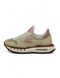 BePositive Cyber Run beige and pink sneakers