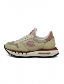 BePositive Cyber Run sneakers beige e rosa