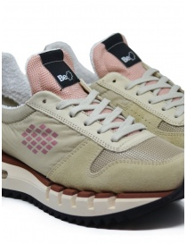 BePositive Cyber Run beige and pink sneakers womens shoes buy online