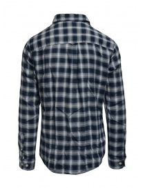 Selected blue checked shirt buy online