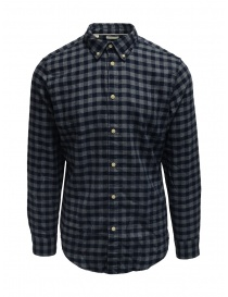 Selected Homme blue/gray checked flannel shirt 16074464 DARK BLUE order online