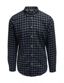 Camicie uomo online: Selected Homme camicia di flanella a quadri blu/grigi