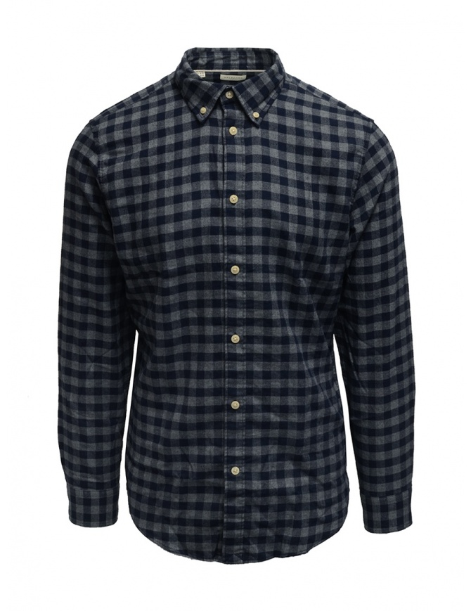Selected Homme blue/gray checked flannel shirt 16074464 DARK BLUE mens shirts online shopping