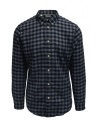Selected Homme blue/gray checked flannel shirt buy online 16074464 DARK BLUE
