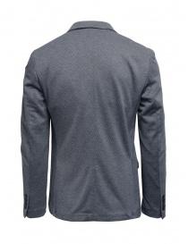 Selected blazer a micro rombi bianchi e blu