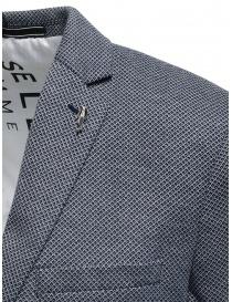 Selected blue and white micro diamond print blazer price