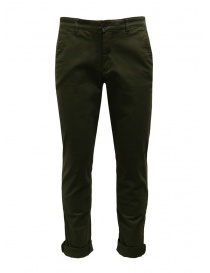 Mens trousers online: Selected Homme pants in green organic cotton