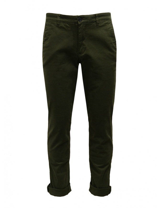 Selected Homme pants in green organic cotton 16074057 FOREST NIGHT mens trousers online shopping