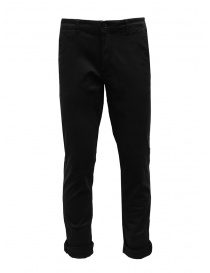 Mens trousers online: Selected Homme black organic cotton trousers
