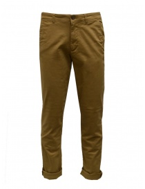 Mens trousers online: Selected Homme mustard organic cotton pants