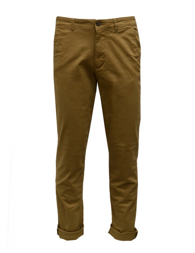 Selected Homme mustard organic cotton pants 16074057 ERMINE mens trousers online shopping