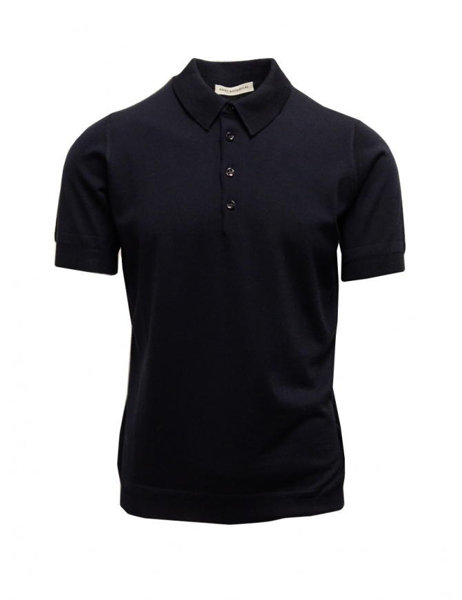 Blue Goes Botanical Polo Shirt Short Sleeves 105 3343 BLU mens t shirts online shopping