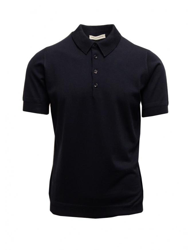 Polo Blu Goes Botanical Maniche Corte 105 3343 BLU t shirt uomo online shopping
