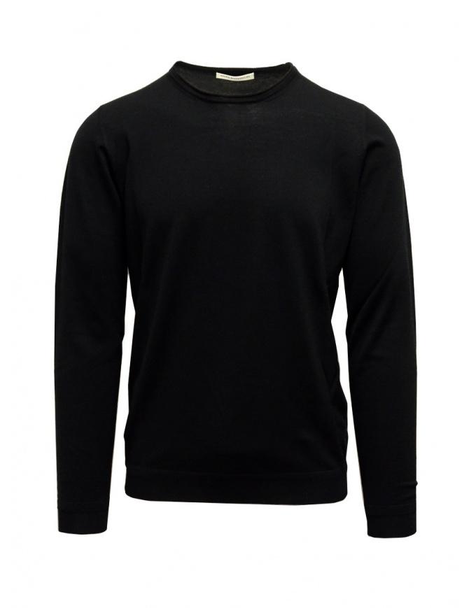 Maglia Goes Botanical paricollo lana Merino nera 101 NERO maglieria uomo online shopping