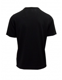 Goes Botanical black T-shirt in merino wool
