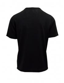 T-shirt Goes Botanical nera in lana merino
