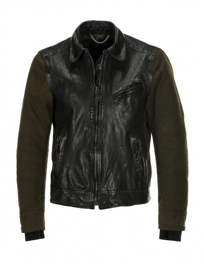 Rude Riders giubbino in pelle e Barbour tweed P74456 BIKER giubbini uomo online shopping