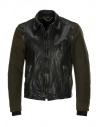 Rude Riders giubbino in pelle e Barbour tweed acquista online P74456 BIKER